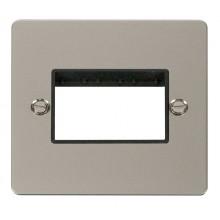 Click Define Pearl Nickel Single Plate 3 Gang Aperture FPPN403BK