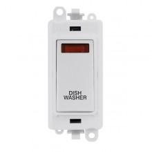 Click GridPro 20AX Switch DP Module c/w Neon - White Insert White GM2018NPW-DW