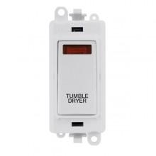 Click GridPro 20AX Switch DP Module c/w Neon - White Insert White GM2018NPW-TD