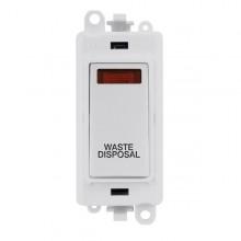 Click GridPro 20AX Switch DP Module c/w Neon - White Insert White GM2018NPW-WD