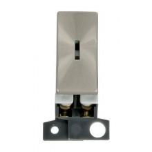 Click MiniGrid MD003BS Brushed Steel 2 Way Keyswitch Module