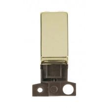 Click MiniGrid MD004BR Polished Brass 2 Way Retractive Sw Module