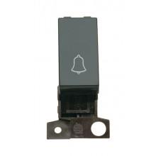 Click MiniGrid MD005BK Black 1 Way Retractive Switch Module Bell