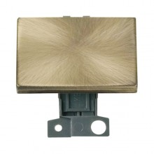 Click MiniGrid MD009AB Antique Brass 2 Way Paddle Switch Module