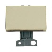 Click MiniGrid MD009BR Polished Brass 2 Way Paddle Switch Module