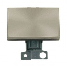 Click MiniGrid MD009BS Brushed Steel 2 Way Paddle Switch Module