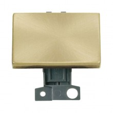 Click MiniGrid MD009SB Satin Brass 2 Way Paddle Switch Module