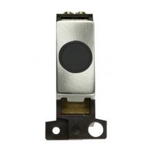 Click MiniGrid MD017BKBS Black Brushed Steel 20A Flex Outlet Mod