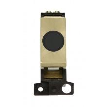 Click MiniGrid MD017BKSB Black Satin Brass 20A Flex Outlet Mod