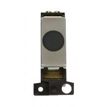 Click MiniGrid MD017BKSS Black S/Steel 20A Flex Outlet Module