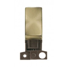 Click MiniGrid MD018AB Antique Brass 13A Double Pole Sw Module