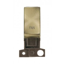 Click MiniGrid MD018ABFN Antique Brass Double Pole Fan Module