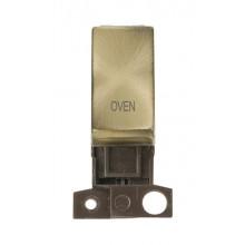 Click MiniGrid MD018ABOV Antique Brass Double Pole Oven Module