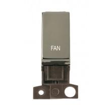 Click MiniGrid MD018BNFN Black Nickel Double Pole Fan Module