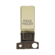 Click MiniGrid MD018BRFF Polished Brass DP Fridge Freezer Module