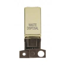 Click Minigrid 10A Switch Ingot DP Resistive Module Brass MD018BRWD