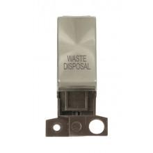 Click MiniGrid MD018BSWD Brushed Steel DP Waste Disposal Module