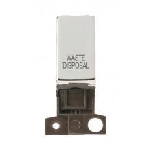 Click MiniGrid MD018CHWD Pol/Chrome DP Waste Disposal Module