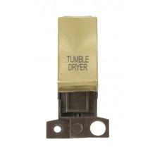 Click MiniGrid MD018SBTD Satin Brass DP Tumble Dryer Module