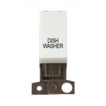 Click MiniGrid MD018WHDW White 13A DP Dishwasher Switch Module