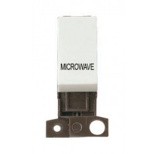 Click MiniGrid MD018WHMW White 13A DP Microwave Switch Module