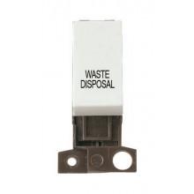Click MiniGrid MD018WHWD White 13A DP Waste Disposal Sw Module