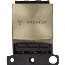 Click MiniGrid MD020AB Antique Brass 3 Pole Fan Isolator Sw Mod