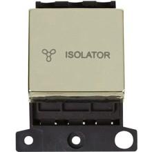 Click MiniGrid MD020BR Pol/Brass 3 Pole Fan Isolator Switch Mod