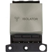 Click MiniGrid MD020BS B/Steel 3 Pole Fan Isolator Switch Module