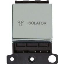 Click MiniGrid MD020CH Pol/Chrome 3 Pole Fan Isolator Switch Mod