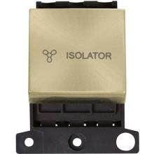 Click MiniGrid MD020SB Satin Brass 3 Pole Fan Isolator Sw Module