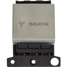Click MiniGrid MD020SS S/Steel 3 Pole Fan Isolator Switch Module