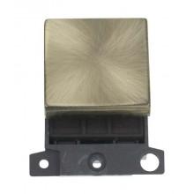 Click MiniGrid MD022AB Antique Brass 20A DP Switch Module