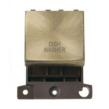 Click MiniGrid MD022ABDW Ant/Brass 20A DP Dishwasher Sw Mod