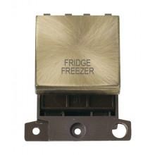 Click MiniGrid MD022ABFF Ant/Brass 20A DP Fridge Freezer Sw Mod