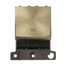 Click MiniGrid MD022ABFN Antique Brass 20A DP Fan Switch Module