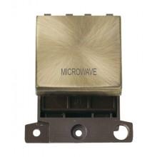 Click MiniGrid MD022ABMW Ant/Brass 20A DP Microwave Sw Mod