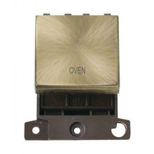 Click MiniGrid MD022ABOV Antique Brass 20A DP Oven Switch Module