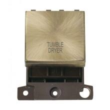 Click MiniGrid MD022ABTD Ant/Brass 20A DP Tumble Dryer Sw Mod