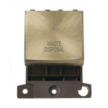 Click MiniGrid MD022ABWD Ant/Brass 20A DP Waste Disposal Sw Mod