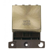 Click MiniGrid MD022ABWH Ant/Brass 20A DP Water Heater Sw Module