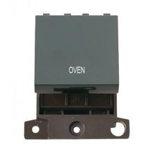Click MiniGrid MD022BKOV Black 20A DP Oven Switch Module