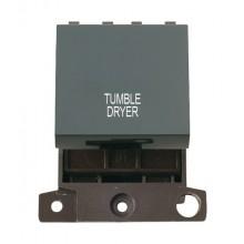 Click MiniGrid MD022BKTD Black 20A DP Tumble Dryer Switch Module