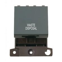 Click MiniGrid MD022BKWD Black 20A DP Waste Disposal Switch Mod