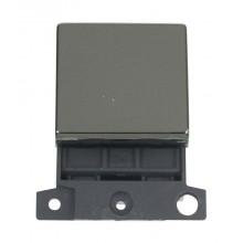 Click MiniGrid MD022BN Black Nickel 20A DP Switch Module