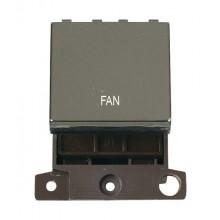 Click Minigrid 20A Switch Ingot DP 2 Module Black Nickel MD022BNFN