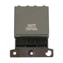 Click MiniGrid MD022BNWD B/Nickel 20A DP Waste Disposal Sw Mod