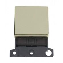 Click MiniGrid MD022BR Polished Brass 20A DP Switch Module