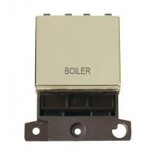 Click MiniGrid MD022BRBL Polished Brass 20A DP Boiler Sw Module