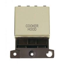 Click MiniGrid MD022BRCH Pol/Brass 20A DP Cooker Hood Sw Module